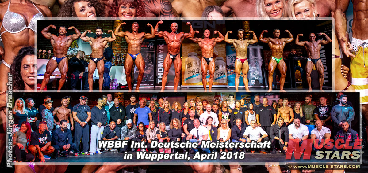 WBBF Int. Deutsche Meisterschaft April 2018 in Wuppertal