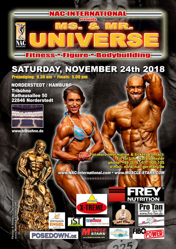 NAC Ms. & Mr. Universe 2018 in Hamburg