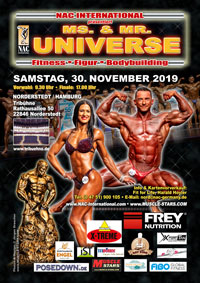 NAC Ms. & Mr. Universe 2019 in Hamburg
